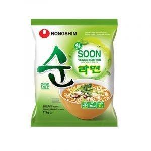 Nongshim Soon Veggie Ramyun Noodle Soup 112g