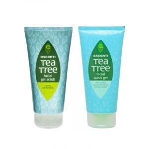 Escenti Tea Tree Gel Facial Scrub/Wash 150mL